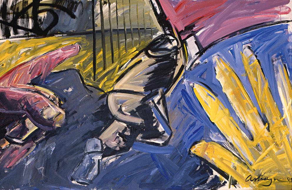 Donde los ideales se separan, 1985. Acrílico / Tela, 150 x 200 cm.