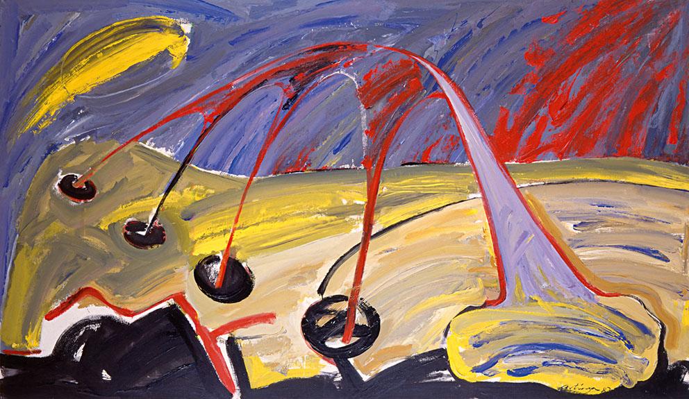 Trasvase, 1987. Acrílico / Tela, 140 x 240 cm.