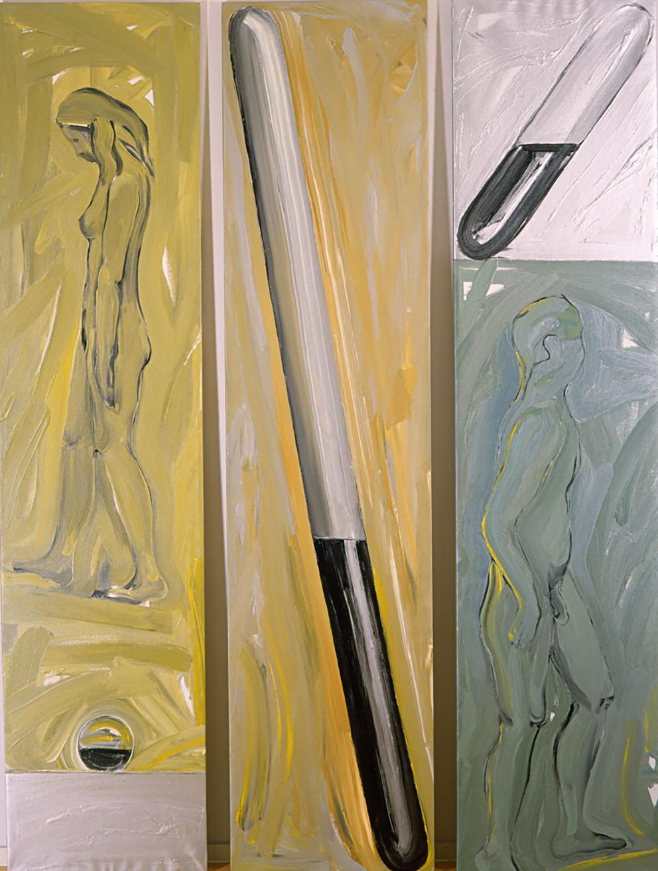 Sin título II, 1988. Acrílico / Tela, 245 x 180 cm.