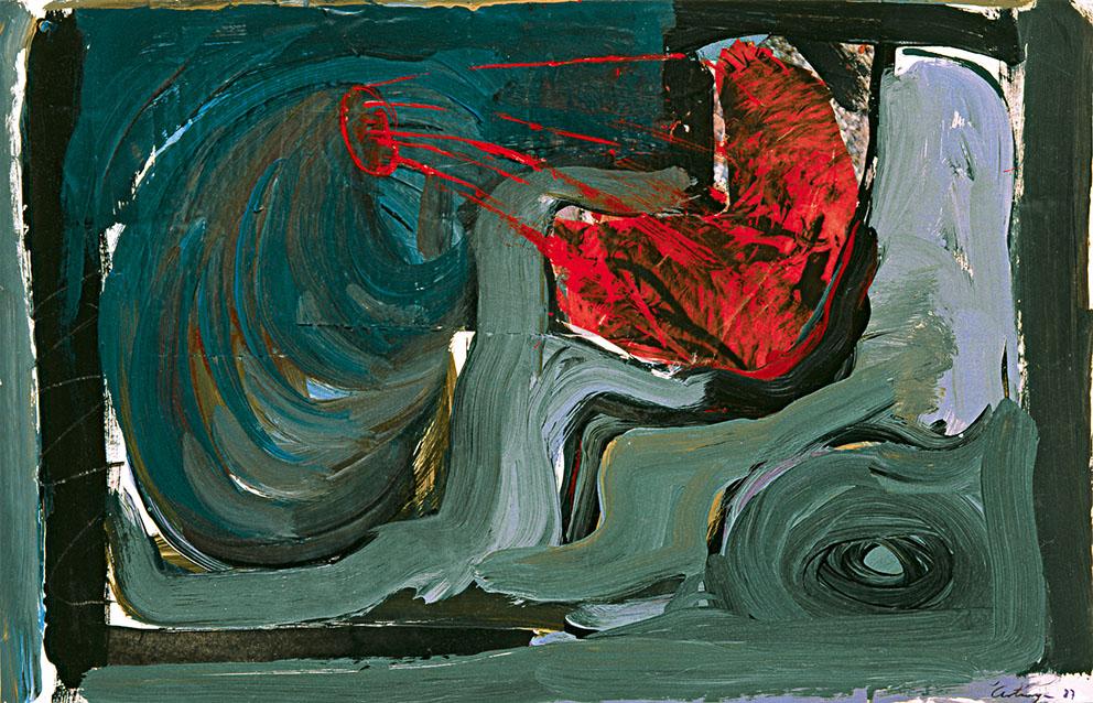 Sin título V, 1987. Acrílico / Papel, 33 x 45 cm.