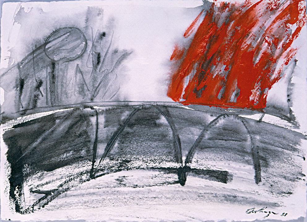 Sin título III, 1988. Acrílico / Papel, 35 x 50 cm.