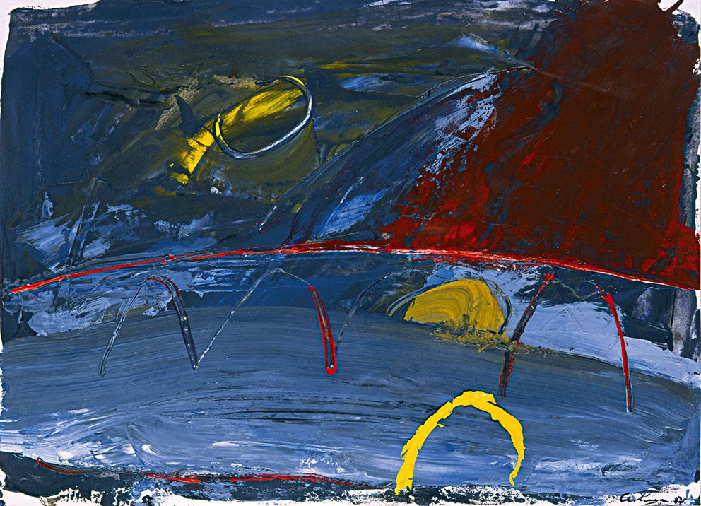 Sin título III, 1987. Acrílico / Papel, 33 x 45 cm.