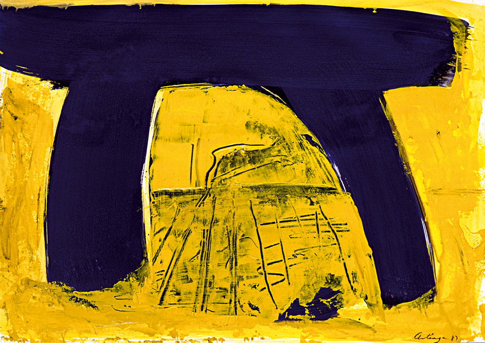 Sin título VI, 1987. Acrílico / Papel, 33 x 45 cm.