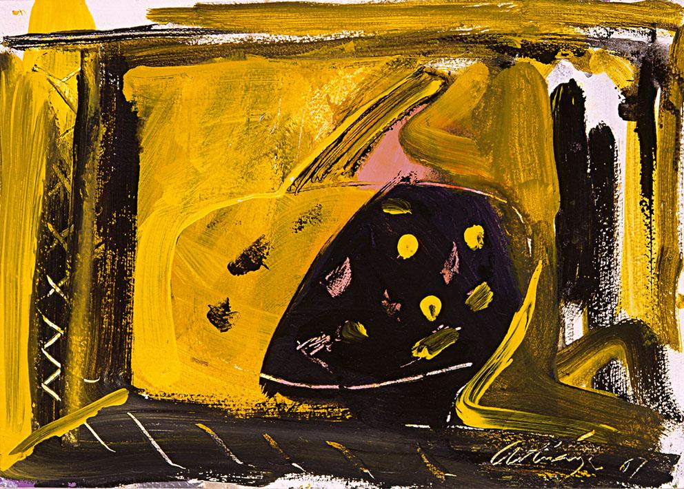 Sin título IV, 1987. Acrílico / Papel, 33 x 45 cm.