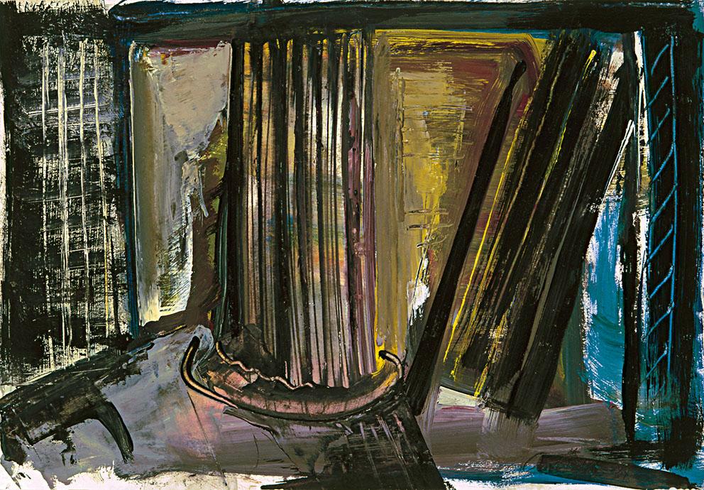 Sin título II, 1987. Acrílico / Papel, 32 x 45 cm.