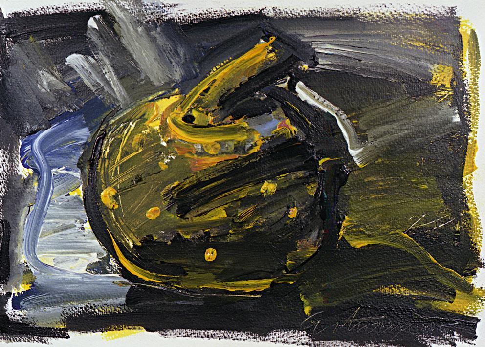 Sin título, 1987. Acrílico / Papel, 32 x 45 cm.