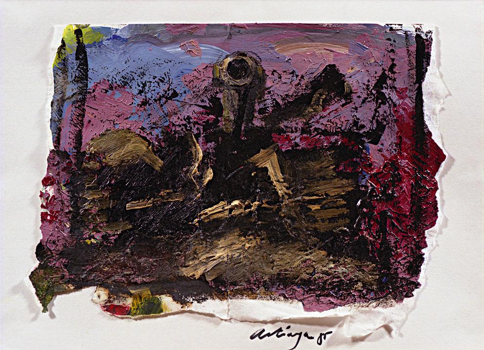 Sin título 2/4, 1985. Acrílico / Papel, 32 x 45 cm.