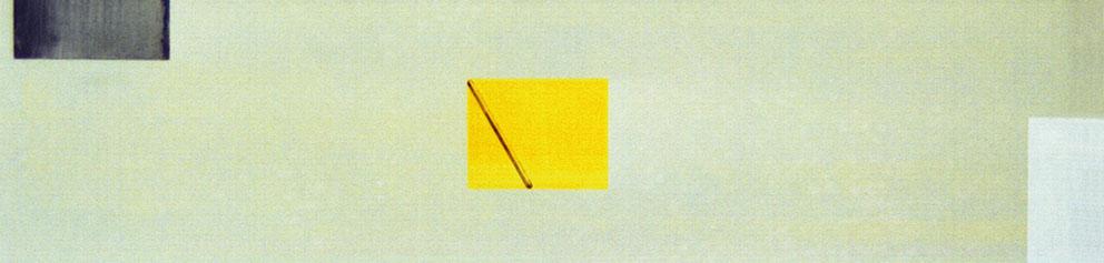 Sin título, 1989. Acrílico / Tela, 50 x 200 cm