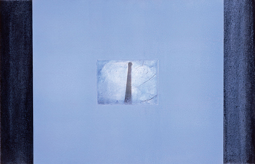 Presencias, 1989. Acrílico / Tela, 65 x 100 cm.