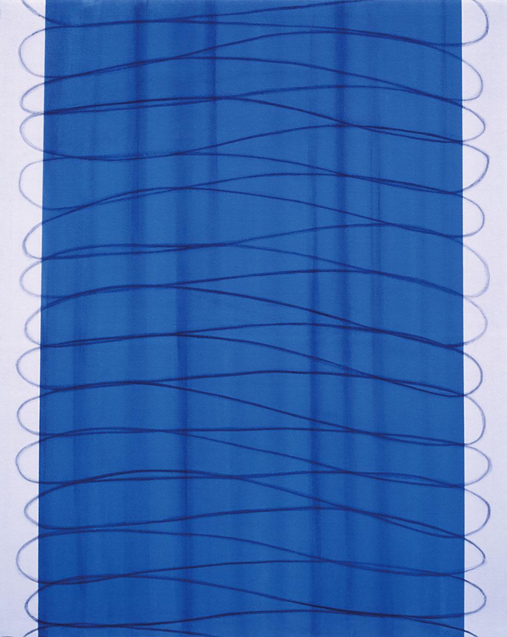 Rencontres III, 1995. Acrílico / Tela, 162 x 130 cm.