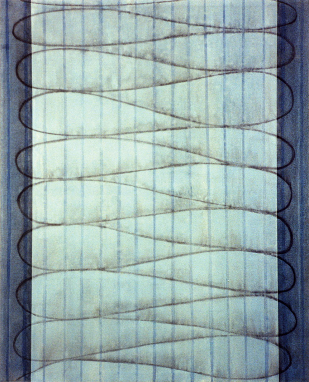 Rencontres I, 1995. Acrílico / Tela, 162 x 130 cm.