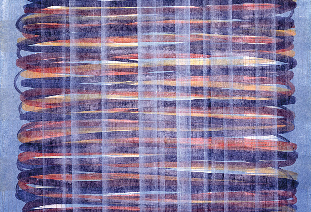 Rencontres, 1996. Acrílico / Tela, 150 x 200 cm.