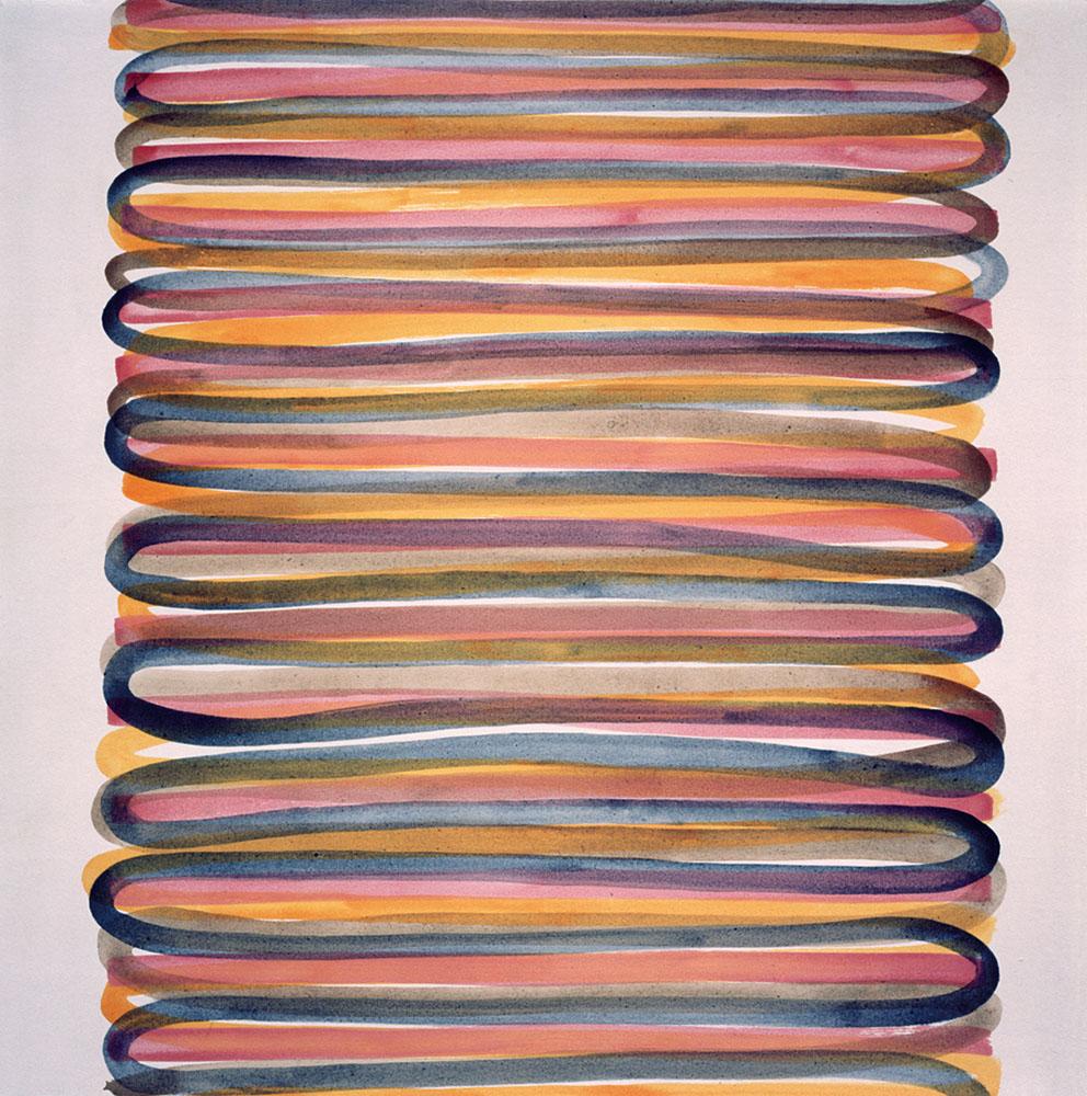 Rencontres, 1996. Acrílico / Tela, 200 x 200 cm.