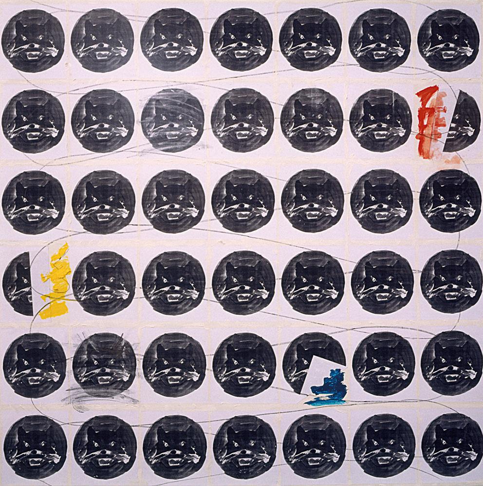Rencontres, 1997. Técnica mixta / Tela, 200 x 200 cm.